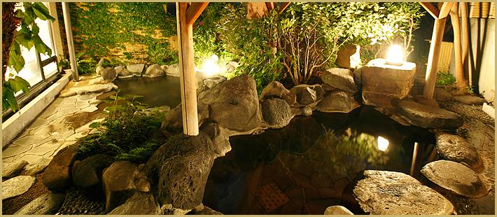 つわぶきの湯 庭園露天風呂・御影石内風呂