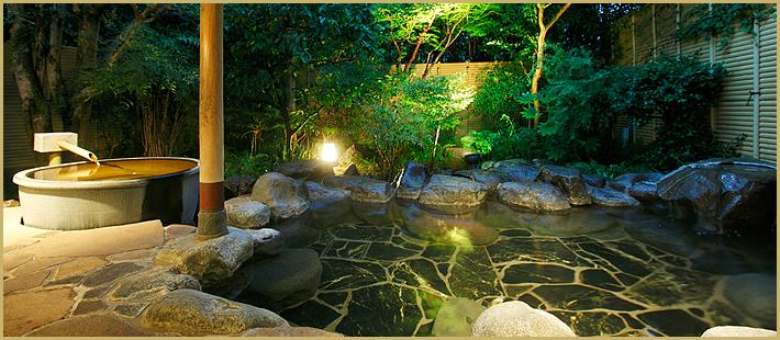 こもれびの湯 岩露天+壺風呂